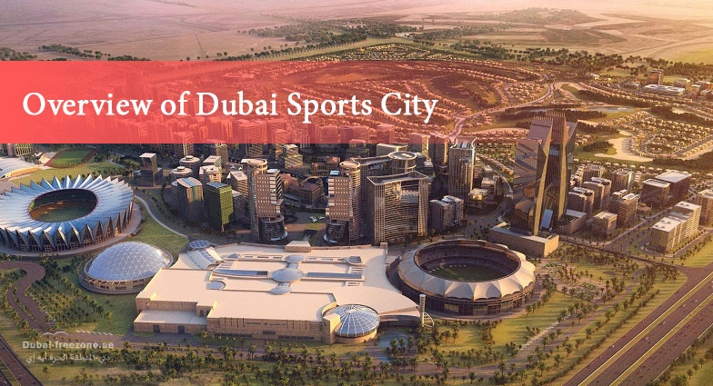 Main picture: Overview of Dubai Sports City