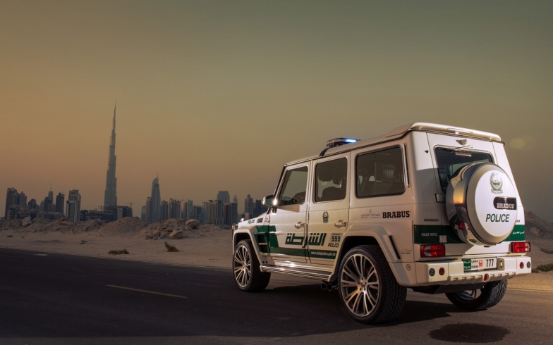 Main picture: Dubai police - police which opts for innovations and luxury cars.
